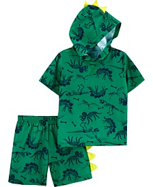 Toddler Boys 2-Pc. Dinosaur-Print Sleep Set