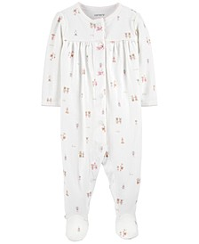 Baby Girls Cotton Character Friends Footed Pajamas