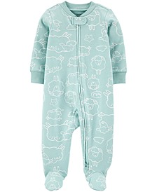 Baby Girls or Boy 1-Pc. Sheep-Print Cotton Coverall