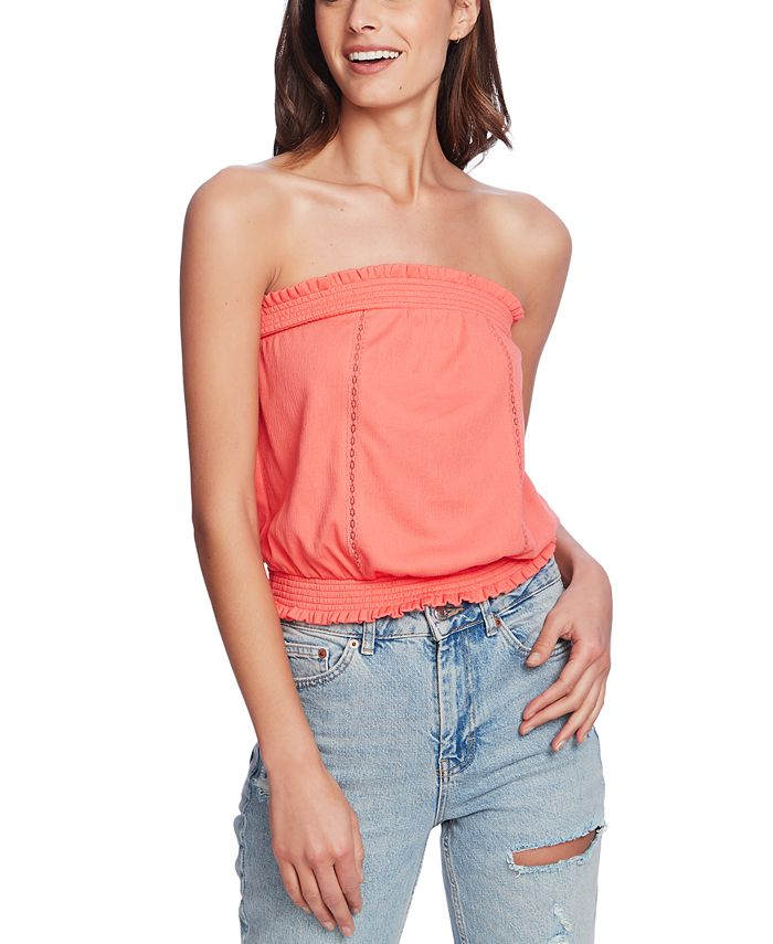 1.STATE - Strapless Lace-Inset Top