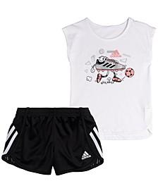 Baby Girls 2-Pc. Soccer T-Shirt & Shorts Set