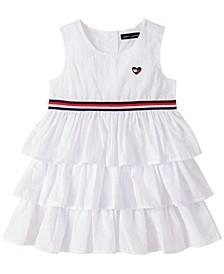 Baby Girls White Ruffle Cotton Sundress