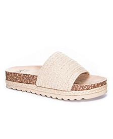 Diamonds Jute Women's Footbed Sandal