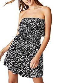 Woven Leslie Strapless Mini Dress
