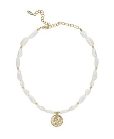Paloma Freshwater Pearl Coin Necklace