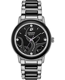 Citizen Eco-Drive Women's Ursula Diamond-Accent Stainless Steel & Black Ceramic Bracelet Watch 36mm
