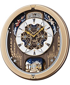 Melodies in Motion Gold-Tone Wall Clock