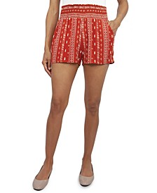 Juniors' Smocked-Waist Soft Shorts