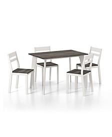 Miley 5 Piece Rectangular Dining Table Set