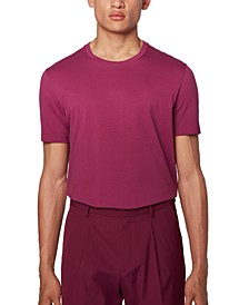 BOSS Men's Tiburt 55 Purple T-Shirt
