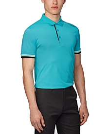 BOSS Men's Paule 6 Open Blue Polo Shirt