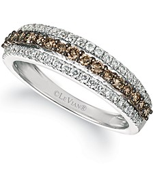 Chocolatier® Chocolate Diamonds® (1/3 ct. t.w.) & Vanilla Diamonds® (1/4 ct. t.w.) in 14k White Gold