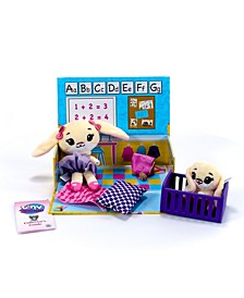 Playset Assortment with Plush Stuffed Character, Bunny