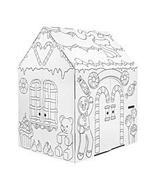 Gingerbread Cardboard Playhouse