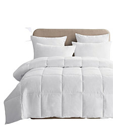 UNIKOME Lightweight White Goose Down & Feather Comforter, Twin Size