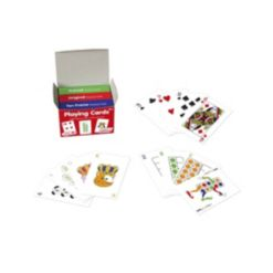 Junior Learning Playing Cards - 3 Decks Animal, Original, 10-Frame