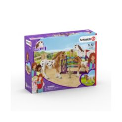 Schleich, Horse Club, Lisa's tournament Training with Appaloosas Toy Figurine Playset