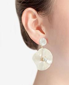 Gold-Tone Flower Drop Earring