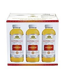 Organic Raw Kombucha Gingerade, Count 6