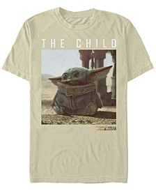 Men's Star Wars The Mandalorian The Child Long Ears Photo Short Sleeve T-shirt