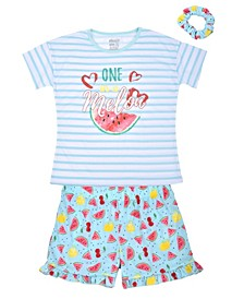 Big Girls Melon Short Set