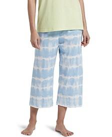 Tie Dye Stripe Capri Pajama Pants, Online Only