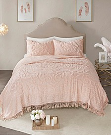 Laetitia Chenille 2-Piece Twin/Twin XL Coverlet Set