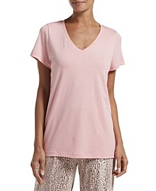 Short Sleeve V-Neck Pajama T-Shirt