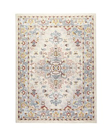 "Barnes Bar03 Ivory and Blue 9'2"" x 12'5"" Area Rug"