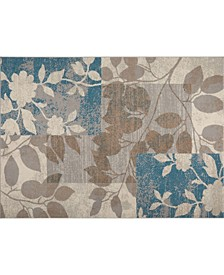 "Haven Hav07 Beige and Blue 7'10"" x 10'5"" Area Rug"