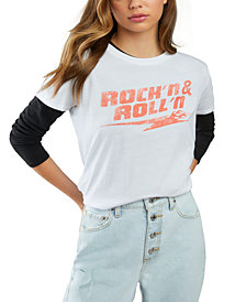GUESS ECO Rock'n Roll Relaxed Graphic T-Shirt