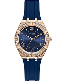 Women's Blue Silicone Strap Watch 36mm