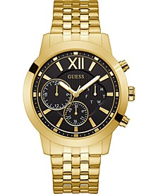 Men's Gold-Tone Stainless Steel Bracelet Watch 45mm