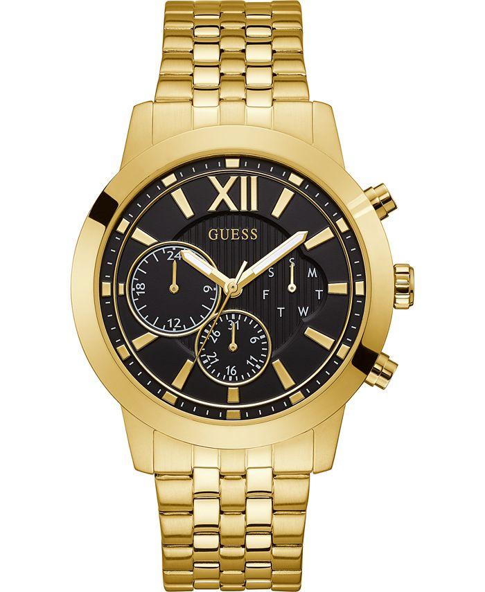 GUESS - Men's Gold-Tone Stainless Steel Bracelet Watch 45mm
