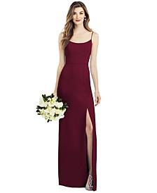 Crepe Side-Slit Gown
