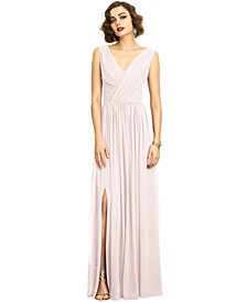 Shirred Chiffon Gown