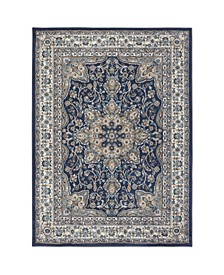 "Haven Hav09 Navy and Ivory 1'9"" x 2'11"" Area Rug"