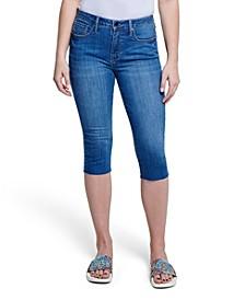 High Rise Breezy Raw Hem Crop Jean