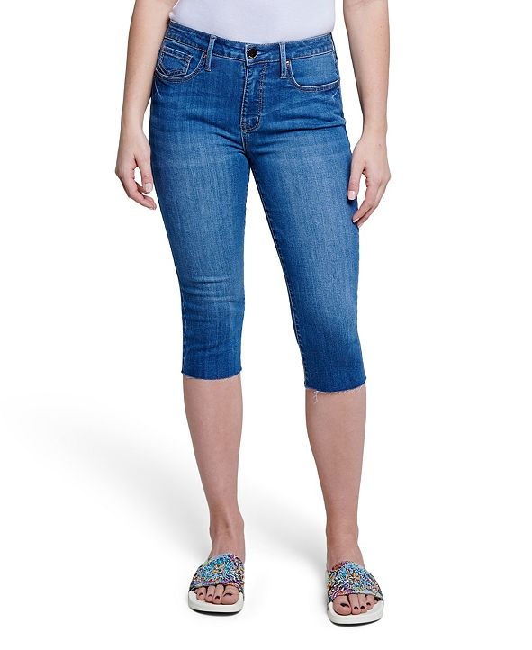 Seven7 High Rise Breezy Raw Hem Crop Jean