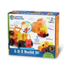 Learning Resources 1-2-3 Build It Construction Crew