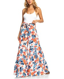 Pismo State Beach Floral-Print Tiered Pants