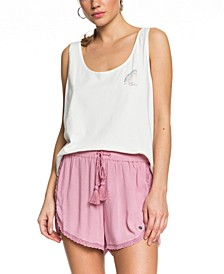 Spring Sparkle Lace-Trim Beach Shorts