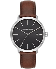 Blake Three-Hand Brown Leather Strap 42mm
