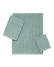 CLOSEOUT! Herringbone Hand Towel