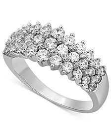 Diamond Three-Row Band (1-1/2 ct. t.w.) in 14K White Gold