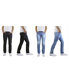 Men's 2-Packs Straight Leg Washed Jeans with Stretch