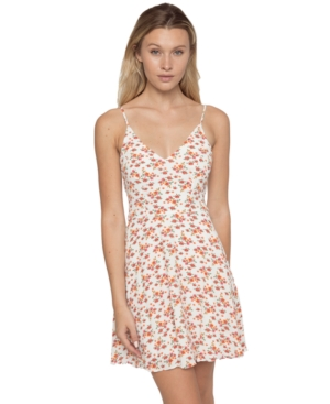 B Darlin Juniors' Floral-Print A-Line Dress