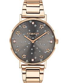 Women's Perry Carnation Gold-Tone Stainless Steel Bracelet Watch 36mm, Created for Macy's