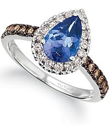 Blueberry Tanzanite (1-1/6 ct. t.w.) & Diamond (1/2 ct. t.w.) in 14k White Gold