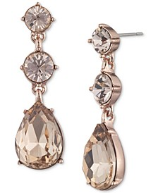 Colored Crystal Double Drop Earrings